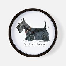 Scottish Terrier Love Wall Clock