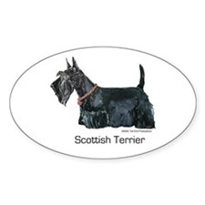 Scottish Terrier Love Oval Decal