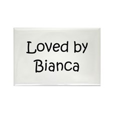 Cute Bianca Rectangle Magnet