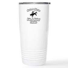"""Save Horse, Biology Teacher"" Travel Mug"