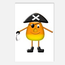 Candy Corn Pirate Postcards (Package of 8)