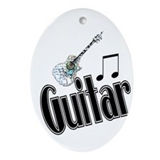 Guitar Oval Ornament