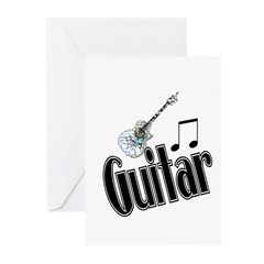 Guitar Greeting Cards (Pk of 10)