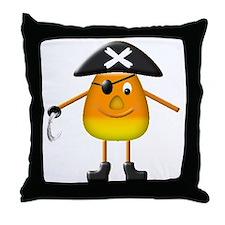Candy Corn Pirate Throw Pillow