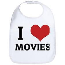 I Love Movies Bib