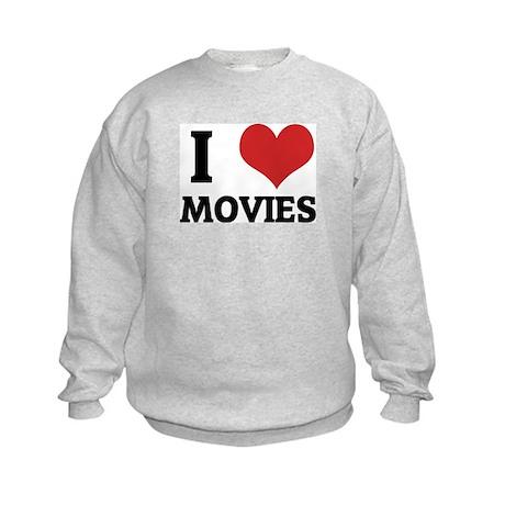 I Love Movies Kids Sweatshirt