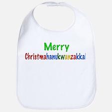 Merry Christmahanukwanzakkah Bib