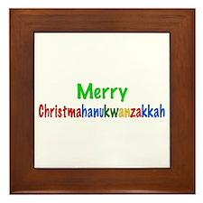 Merry Christmahanukwanzakkah Framed Tile