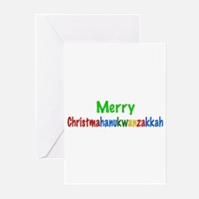 Merry Christmahanukwanzakkah Greeting Cards (Pk of