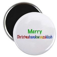 "Merry Christmahanukwanzakkah 2.25"" Magnet (10 pack"
