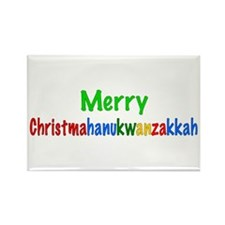Merry Christmahanukwanzakkah Rectangle Magnet (10