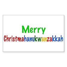 Merry Christmahanukwanzakkah Rectangle Decal