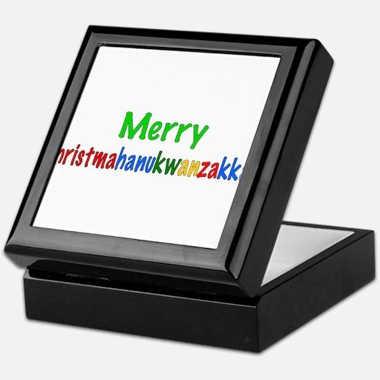 Merry Christmahanukwanzakkah Keepsake Box