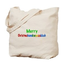Merry Christmahanukwanzakkah Tote Bag