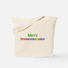 Merry Christmahanukwanzakkah Tote Bag