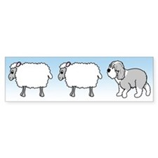 Old English Sheepdog Herding Bumper Bumper Sticker