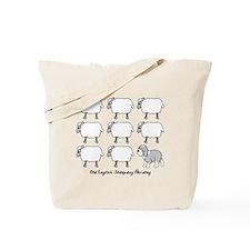 Old English Sheepdog Herding Tote Bag