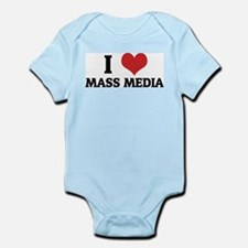 I Love Mass Media Infant Creeper