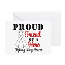 ProudFriendLungCancer Hero Greeting Cards (Pk of 1
