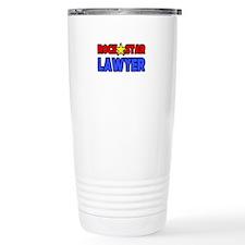"""Rock Star Lawyer"" Travel Coffee Mug"