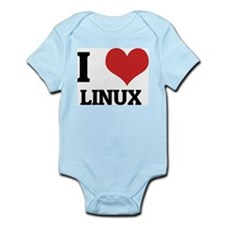 I Love Linux Infant Creeper