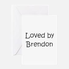 Cute Brendon Greeting Card