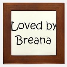 Funny Breana Framed Tile