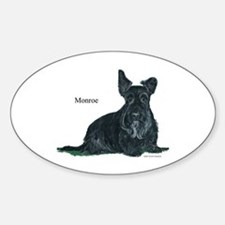 Laughing Scottish Terrier Sticker (Oval)