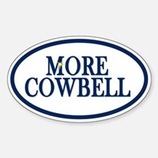 Tampa More Cowbell Oval Decal