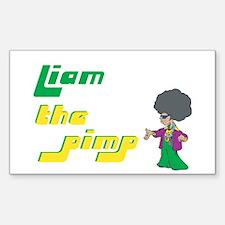 Liam - The Pimp Rectangle Decal