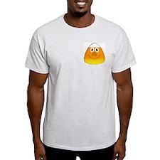 Candy Corn Pirate Ash Grey T-Shirt