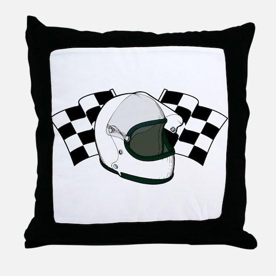 Helmet & Flags Throw Pillow