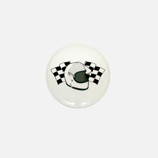 Helmet & Flags Mini Button