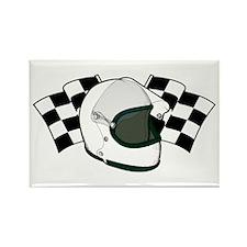 Helmet & Flags Rectangle Magnet (10 pack)