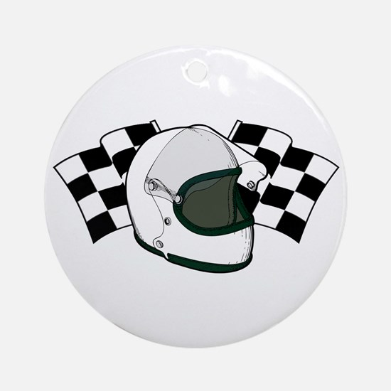 Helmet & Flags Ornament (Round)
