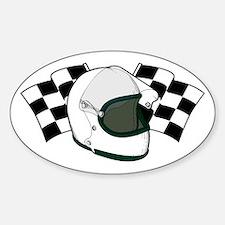 Helmet & Flags Decal