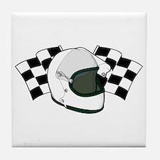 Helmet & Flags Tile Coaster