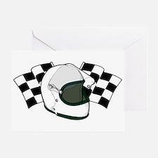 Helmet & Flags Greeting Card