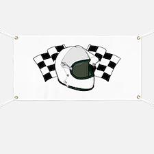 Helmet & Flags Banner