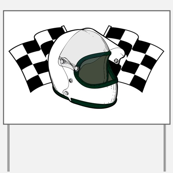 Helmet & Flags Yard Sign