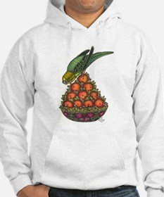 Budgie and Tangerine Topiary Hoodie