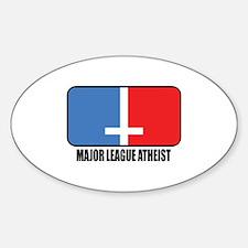 Major League Atheist Oval Decal