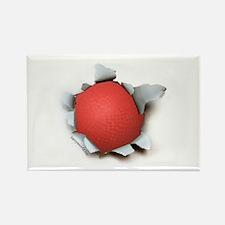 Dodgeball Burster Rectangle Magnet (10 pack)