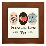 Peace Love Tea Framed Tile