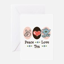 Peace Love Tea Greeting Card