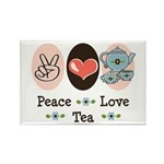 Peace Love Tea Rectangle Magnet (10 pack)