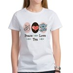 Peace Love Tea Women's T-Shirt