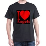 I Love Angels Dark T-Shirt
