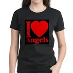 I Love Angels Women's Dark T-Shirt