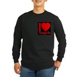 I Love Angels Long Sleeve Dark T-Shirt